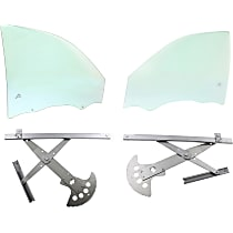Power Window Regulator, Without Motor - Sedan Front, Driver and Passenger Side