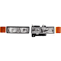 Replacement Headlight, Turn Signal Light, Side Marker and Reflector Kit