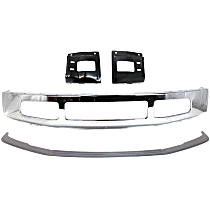 Bumper - Front, Chrome, with Bumper Mounting Plates and Bumper Molding