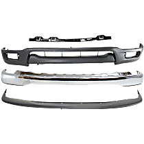 Bumper - Front, Chrome, with Bumper Filler, Bumper Retainer and Lower Valance