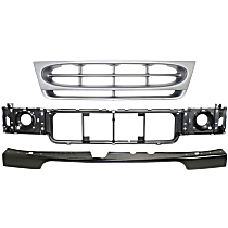 Replacement Bumper Filler, Header Panel and Grille Assembly Kit