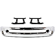 Bumper - Front, Chrome, Type 2, with Support Brackets