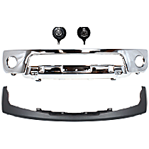 Bumper - Front, Chrome, Steel Type, with Bumper Filler and Fog Lights