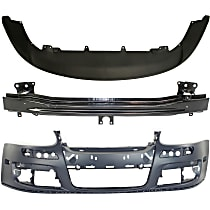 Replacement Bumper Cover, Bumper Reinforcement and Valance Kit