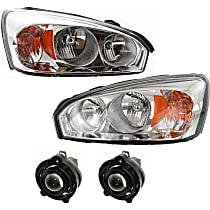 Headlights - Driver and Passenger Side, Kit, With Bulb(s), With Fog Lights