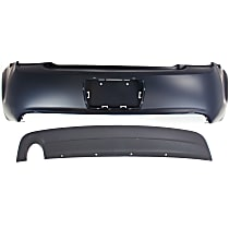 Rear Lower Valance For 2016-2018 Chevy Malibu Dual Exhaust Holes Capa