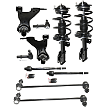 OE Replacement Front, Driver and Passenger Side Loaded Strut - Set of 10