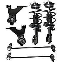 Replacement Control Arm, Shock Absorber and Strut Assembly and Sway Bar Link Kit