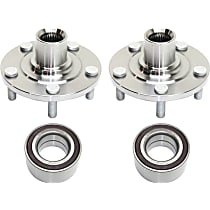 Front, Driver and Passenger Side Wheel Hub and Bearing Assembly