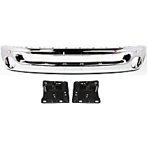 Bumper - Front, Chrome, Type 2, with Bumper Plate Brackets