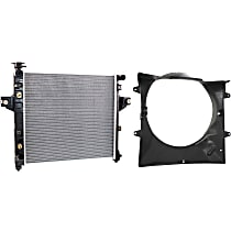 Replacement Cooling Fan Assembly, Fan Shroud and Radiator Kit