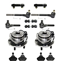 Sway Bar Link, Tie Rod Adjusting Sleeve, Wheel Hub, Ball Joint and Tie Rod End Kit