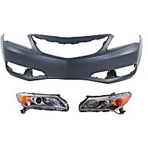 Replacement Bumper Cover and Headlight Kit