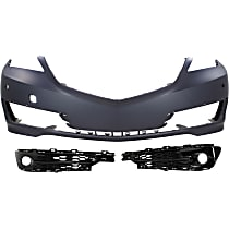 Fog Light Trim - Driver and Passenger Side, with Front Bumper Cover, with Parking Aid Sensors