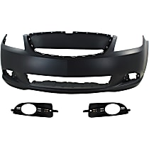 Fog Light Trim - Driver and Passenger Side, Textured Black, Except CX/Touring Models, with Front Bumper Cover