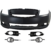 Fog Light Trim - Driver and Passenger Side, Textured Black, Except CX/Touring Models, with Front Bumper Cover and Right and Left Chrome Fog Light Trims