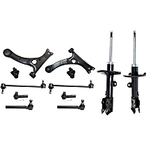 Replacement Control Arm, Shock Absorber and Strut Assembly, Tie Rod End, Sway Bar Link and Ball Joint Kit