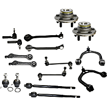 Replacement Wheel Hub, Control Arm, Tie Rod End, Ball Joint and Sway Bar Link Kit