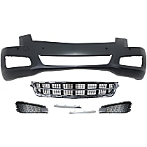Replacement Bumper Cover, Grille Assembly, Fog Light Trim and Fog Light Cover Kit