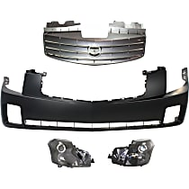 Bumper Cover, Grille Assembly and Headlight Kit
