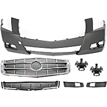 Replacement Bumper Grille, Fog Light, Bumper Cover, Grille Assembly and Fog Light Trim Kit