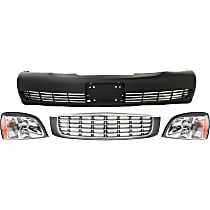 Grille Assembly, Bumper Cover and Headlight Kit
