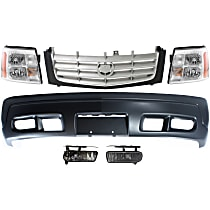 Replacement Grille Assembly, Bumper Cover, Headlight and Fog Light Kit