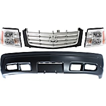 Replacement Grille Assembly, Bumper Cover and Headlight Kit