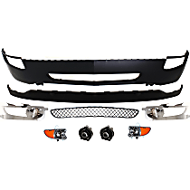 Replacement Valance, Grille Assembly, Fog Light Trim, Bumper Cover, Turn Signal Light and Fog Light Kit