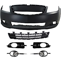 Replacement Grille Assembly, Bumper Cover, Bumper Grille and Fog Light Trim Kit