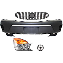 Replacement Headlight, Bumper Cover, Grille Assembly and Fog Light Kit