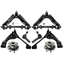 Control Arm, Tie Rod End and Wheel Hub Kit Front Driver and Passenger Side For 4WD Models
