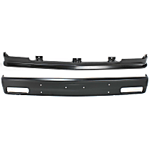 Bumper - Front, Powdercoated Black, with Bumper Filler, without Impact Strip Holes