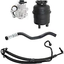Replacement Power Steering Reservoir, Power Steering Pump, Power Steering Hose Kit