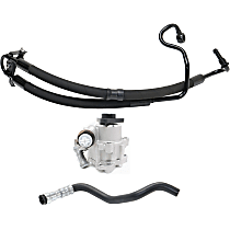 Power Steering Pump - with ID LF-30, with Power Steering Hose and Pressure Hose
