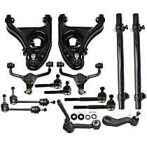 Replacement Control Arm, Tie Rod Adjusting Sleeve, Sway Bar Link, Pitman Arm, Tie Rod End and Idler Arm Kit