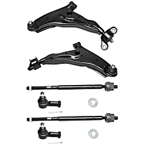 Tie Rod End - Front, Driver and Passenger Side, Inner and Outer, Set of 6