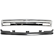 Bumper - Front, Chrome, with Bumper Filler, without Impact Strip Holes