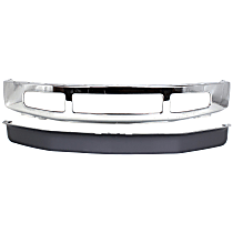 Bumper - Front, Chrome, 4WD, with Lower Valance
