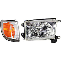 Headlight - Passenger Side, Kit, With Bulb(s), With Right Corner Light