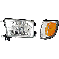 Headlight - Driver Side, Kit, With Bulb(s), With Left Corner Light