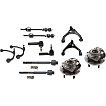Sway Bar Link, Wheel Hub, Control Arm And Tie Rod End Kit