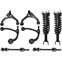Control Arm, Sway Bar Link and Shock Absorber and Strut Assembly Kit Front Driver and Passenger Side