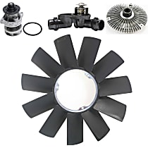 Replacement Fan Clutch, Fan Blade, Water Pump and Thermostat Kit