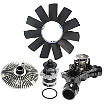 Fan Blade, Fan Clutch, Water Pump and Thermostat Kit