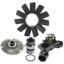 Replacement Fan Blade, Fan Clutch, Water Pump and Thermostat Kit