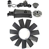 Thermostat, Fan Clutch, Fan Blade, Coolant Reservoir, Coolant Reservoir Cap and Water Pump Kit