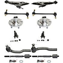 Ball Joint, Tie Rod End, Wheel Hub, Sway Bar Link and Control Arm Kit, Front Driver and Passenger Side