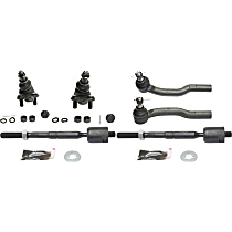 Ball Joint and Tie Rod End Kit, Front Driver and Passenger Side