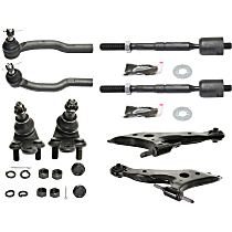 Ball Joint, Tie Rod End and Control Arm Kit, Front Driver and Passenger Side